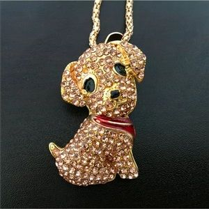 Puppy Champagne Dog Necklace